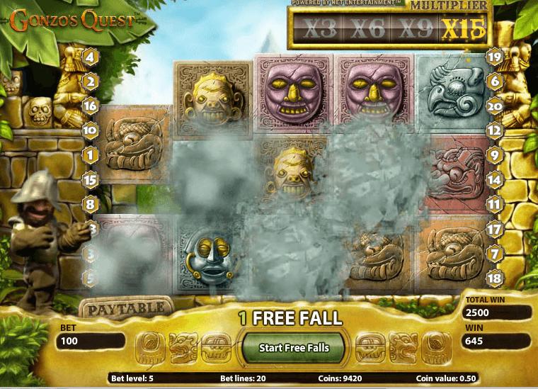 Gonzo's Quest är äventyrssloten där du ska hitta guld