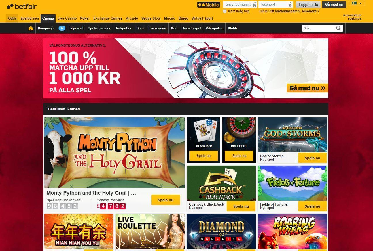 betfair online casino framsida